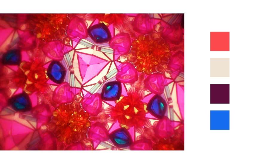 kaleidoscope-rose-bleu-vert-jaune