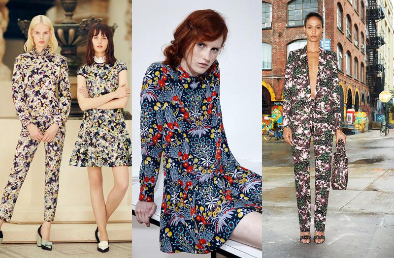 spychelelic-flower-print robe imprimé fleuri tropical