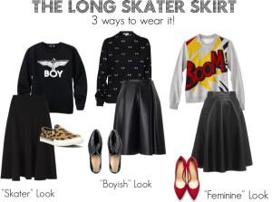 THE LONG SKATER SKIRT