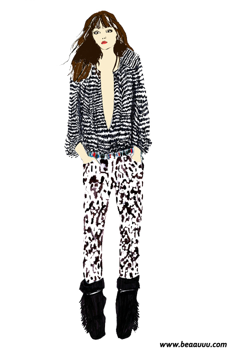 isabel-marant-h-and-m-illustration-lou-doillon