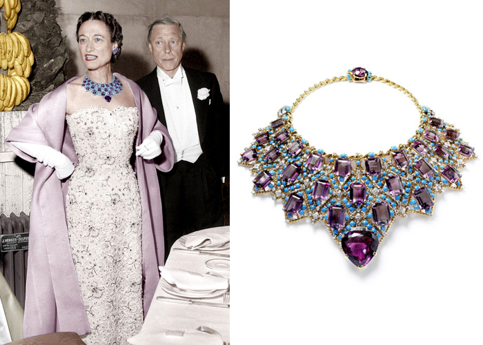 wallis,simpson,duchess of,windsor,cartier,necklace,collier