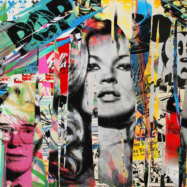 kate moss by Mr Brainwash