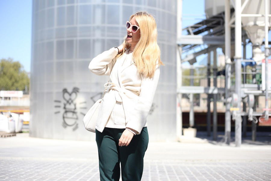veste vintage blanche
