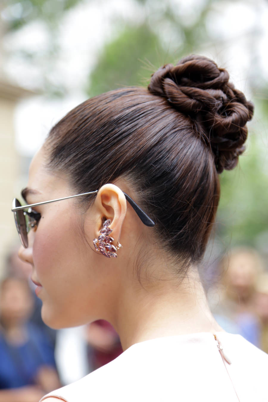 earrings-sunglasses-and-bun