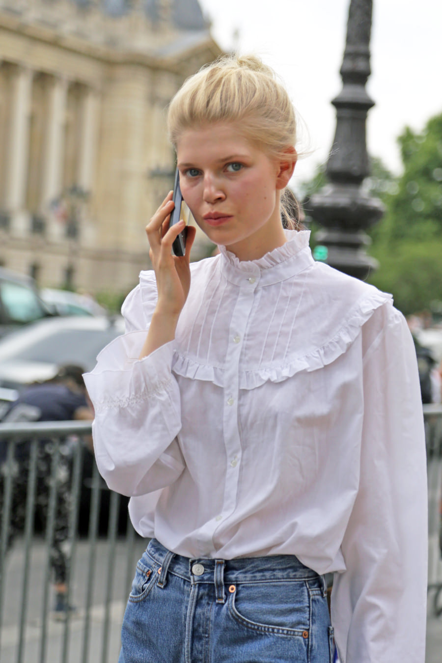 model-off-duty-wearing-a-vintage-white-blouse