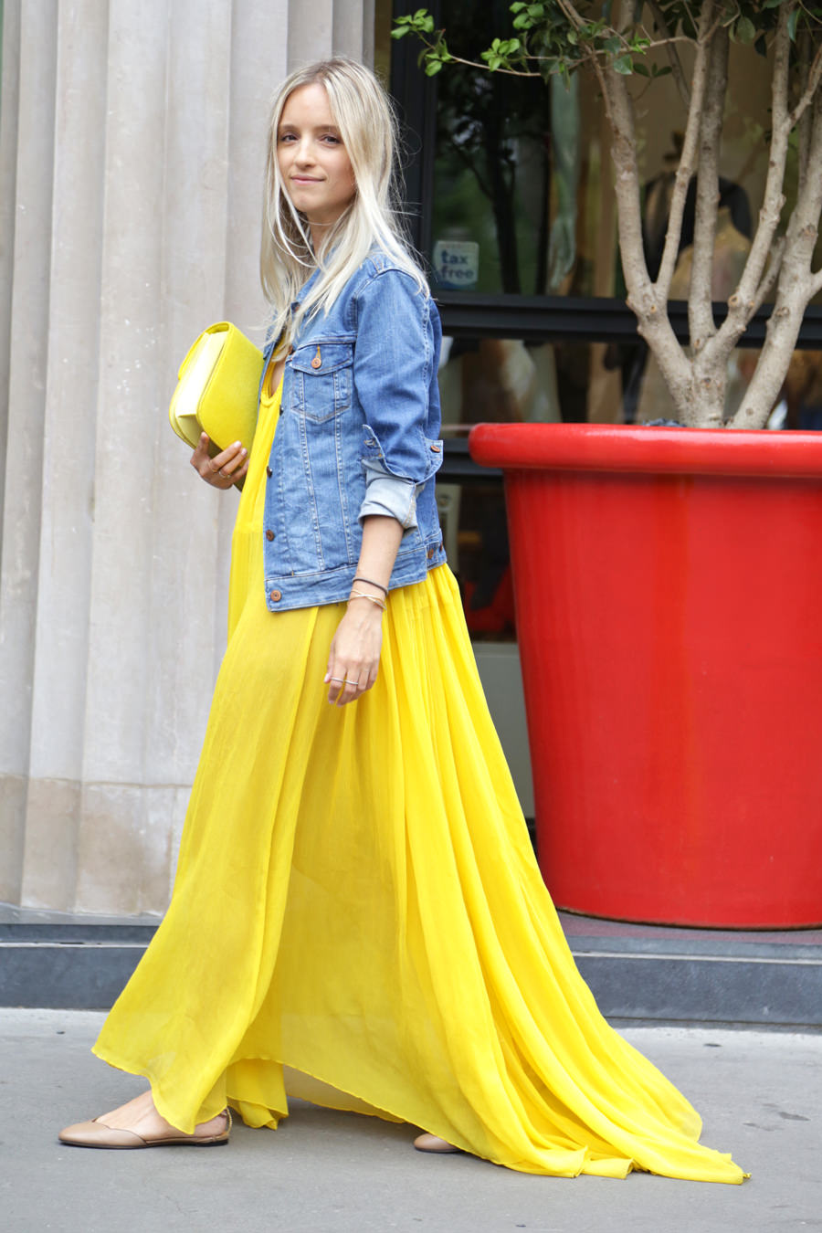 yellow-chloé-dress-with-yellow-celine-bag
