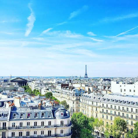 paris skyline from le printemps roof
