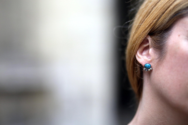 Boucle d'oreille turquoise