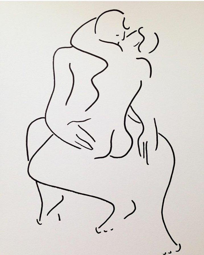 Christiane Spangsberg couple kissing