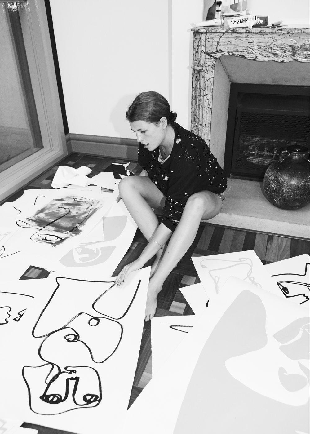Christiane Spangsberg working in her atelier