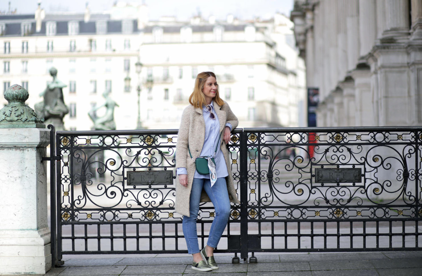 Pastel tones for spring outfit