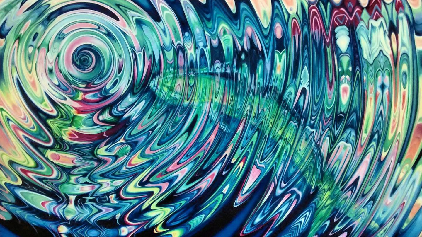 Psychedelic paintings by Evie Zimmer