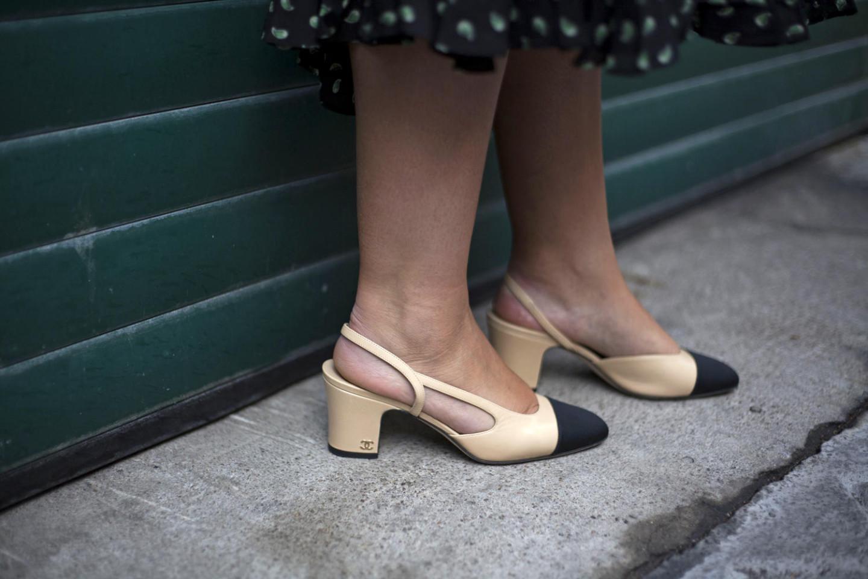 chanel slingback shoe