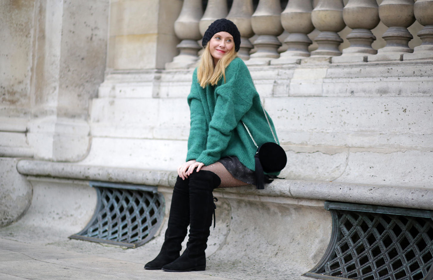 green oversize jumper H&M
