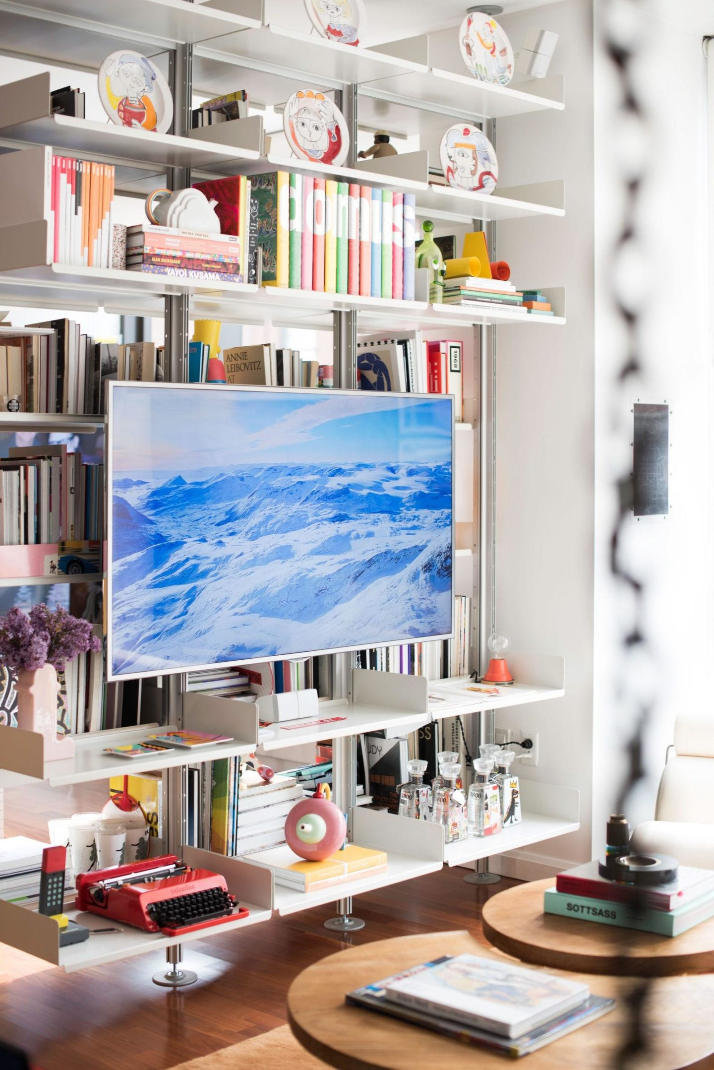 Pinterest Inspiration-The Frame Samsung TV in living room