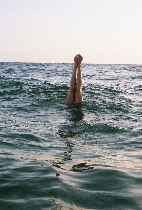 Pinterest Inspiration-diving in the water