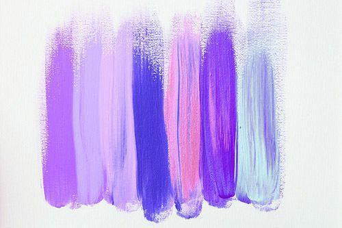 painting purple blue ink pencil