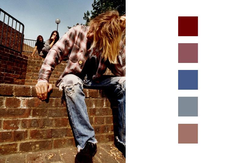 panneau-de-tendance-gamme-de-couleurs-inspiration-kurt-cobain-nirvana-london-september-1991