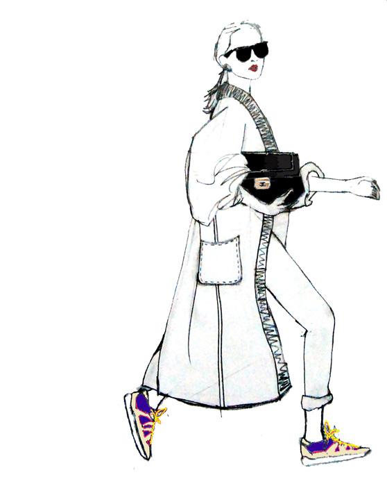 running-shoes-chanel-bag-illustration