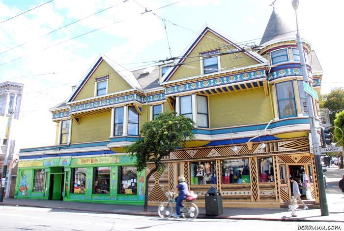 maison-victorienne-colorée-colorful-victorian-house-san-francisco-in haight-street