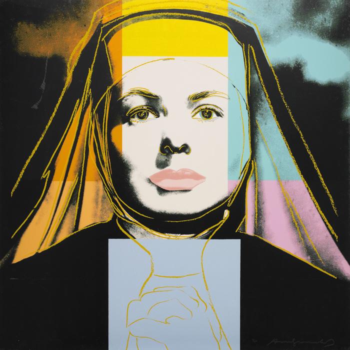 ingrid-bergman-andy-warhol-the-nun-painting-serigraphy
