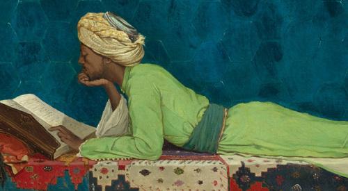 Osman Hambi Bey, jeune Emir à l'étude, Istambul, 1878, Le Louvre Abu Dhabi, credit photo, Le Louvres Abu Dhabi, Agence Photo F