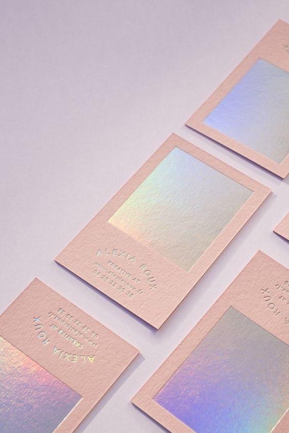 Iridescent Business Card design Ideas