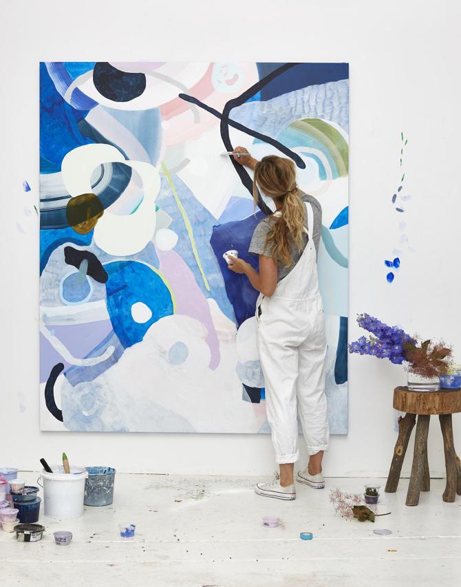 Kirra-Jamison-painting Photo by Derek Swalwell